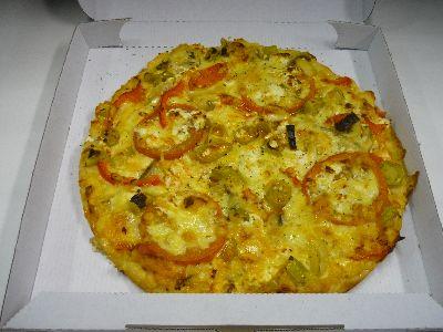 Vegetaria mit Schafskäse, Pilzen, Paprika, Tomaten und Peperoni