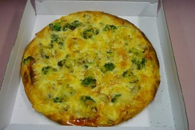 Salami, Broccoli und Pilze