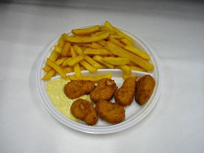 Chicken mit Pommes
